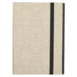 ヴィンテージの壁紙のベージュ花のエレガントなダマスク織 iPad AIRケース