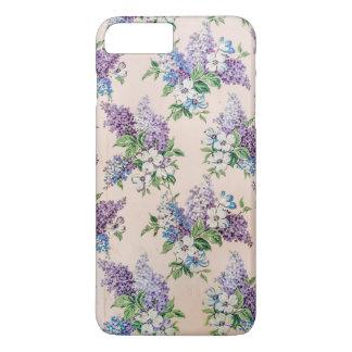 ヴィンテージの壁紙の紫色そしてラベンダーのライラック iPhone 8 PLUS/7 PLUSケース