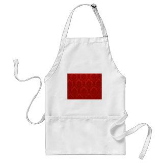 ヴィンテージの壁紙パターン赤 スタンダードエプロン