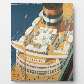 ヴィンテージの大西洋横断の船 フォトプラーク