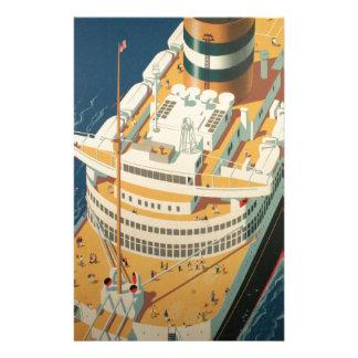 ヴィンテージの大西洋横断の船 便箋