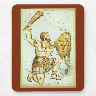 ヴィンテージの天の天文学、オリオンの星座 マウスパッド