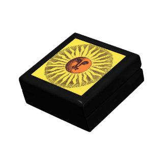 ヴィンテージの天の黄色の微笑の幸せなヒッピー日曜日 ギフトボックス