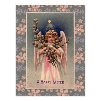 ヴィンテージの天使のイースター挨拶 ポストカード