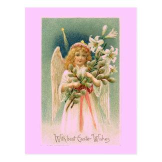 ヴィンテージの天使のイースター郵便はがき ポストカード