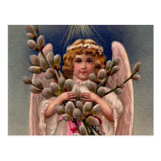 ヴィンテージの天使のプリント ポストカード