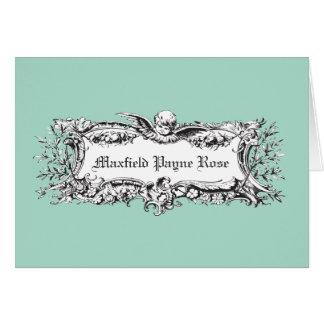 ヴィンテージの天使のメッセージカードか招待状 カード
