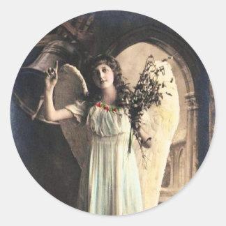 ヴィンテージの天使の写真 ラウンドシール