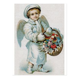 ヴィンテージの天使の男の子の郵便はがき ポストカード