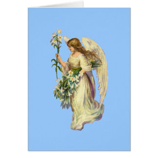 ヴィンテージの天使の祈りの言葉のメッセージカード カード