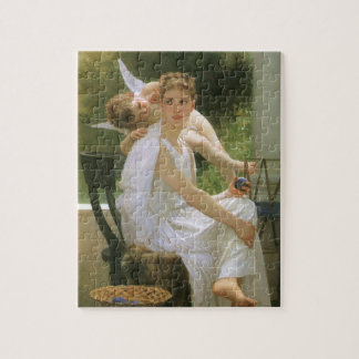 ヴィンテージの天使の芸術、Bouguereau著中断する仕事 ジグソーパズル