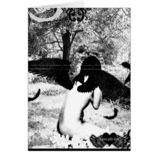 ヴィンテージの天使のver。 黒及び白 カード
