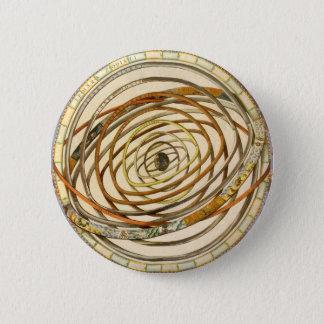 ヴィンテージの天文学の惑星軌道、アンドレアスCellarius 5.7cm 丸型バッジ