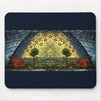 ヴィンテージの天文学のFlammarionの木版画 マウスパッド