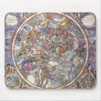 ヴィンテージの天文学、キリスト教の星座の地図 マウスパッド