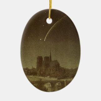 ヴィンテージの天文学、パリ1858年上のDonatiの彗星 セラミックオーナメント