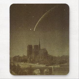 ヴィンテージの天文学、パリ1858年上のDonatiの彗星 マウスパッド
