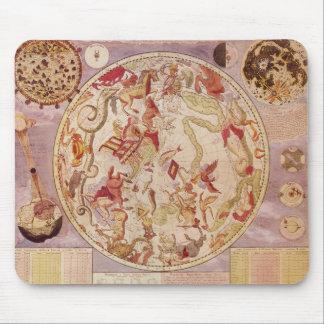 ヴィンテージの天文学、Carel Allard著天の地図 マウスパッド