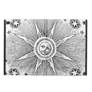 ヴィンテージの太陽および星の天の中世空のdrawi powis iPad air 2 ケース