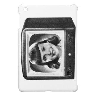 ヴィンテージの女の子が付いている低俗なレトロ50s BWテレビ iPad Mini Case