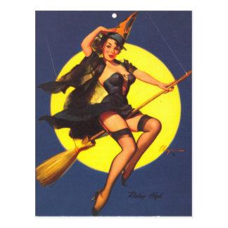 ヴィンテージの女の子の上のレトロのGil Elvgren Pin ポストカード