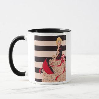 ヴィンテージの女の子 マグカップ