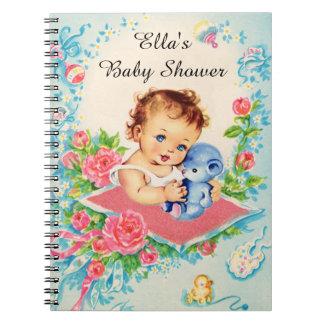 ヴィンテージの女の赤ちゃんのベビーシャワーのノート ノートブック