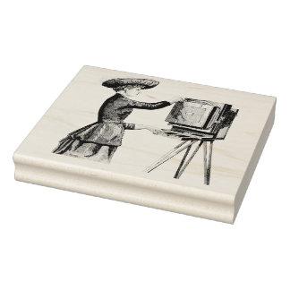 ヴィンテージの女性の作動のカメラのゴム製芸術のスタンプ ラバースタンプ