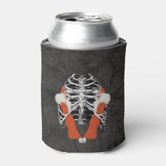 ヴィンテージの女性の唇のRibcageの黒いグランジ 缶クーラー