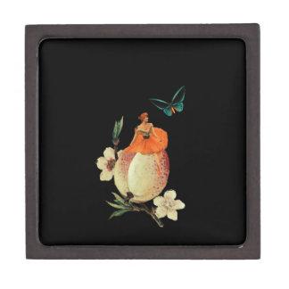 ヴィンテージの女性の花の暗いグランジ ギフトボックス