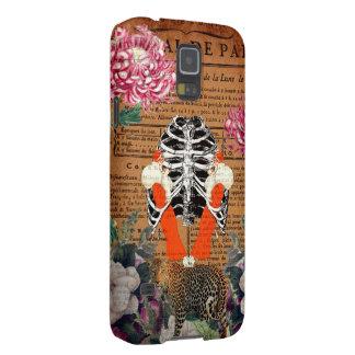 ヴィンテージの女性のRibcageの花柄のコラージュ Galaxy S5 ケース