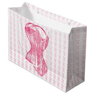 ヴィンテージの女性コルセット ラージペーパーバッグ