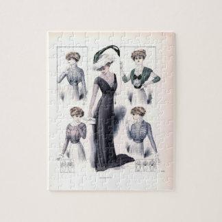 ヴィンテージの女性ファッションのパズル ジグソーパズル