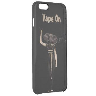 ヴィンテージの女性象Vape クリア iPhone 6 Plusケース