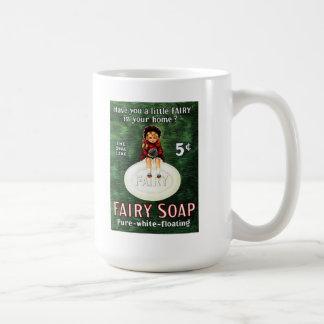 ヴィンテージの妖精の石鹸広告マグ コーヒーマグカップ