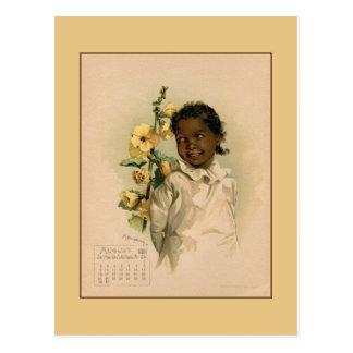 ヴィンテージの威厳があるな1891人の美しい子供の引くこと ポストカード