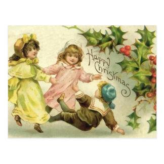 ヴィンテージの子供のクリスマスの郵便はがき ポストカード