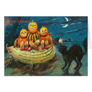 ヴィンテージの子供のハロウィンカード カード