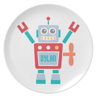 ヴィンテージの子供へかわいいロボットおもちゃ プレート