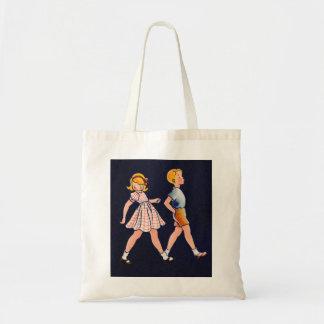 ヴィンテージの子供小さな女の子および男の子の20年代 トートバッグ