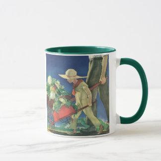 ヴィンテージの子供、オーガニックな園芸; 家庭菜園 マグカップ