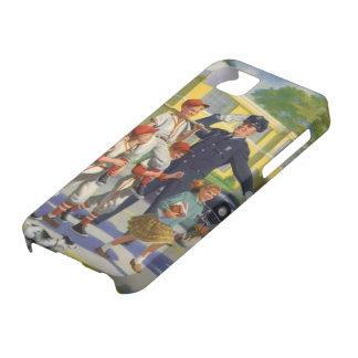 ヴィンテージの子供、野球選手の交通指導員 iPhone SE/5/5s ケース