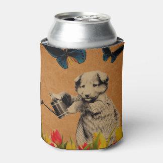 ヴィンテージの子犬によってはグランジな蝶が開花します 缶クーラー