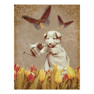 ヴィンテージの子犬によっては蝶グランジなIIIが開花します レターヘッド
