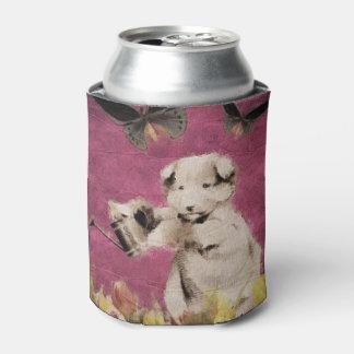 ヴィンテージの子犬によっては蝶ピンクが開花します 缶クーラー