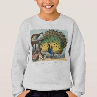 ヴィンテージの孔雀および猫 スウェットシャツ
