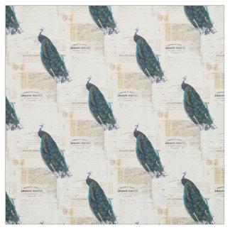 ヴィンテージの孔雀のフランスのな短命なものの生地 ファブリック