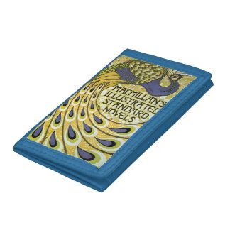 ヴィンテージの孔雀の絵の財布