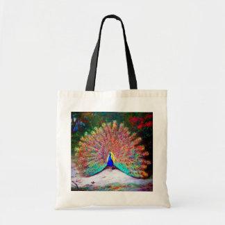 ヴィンテージの孔雀の絵画 トートバッグ