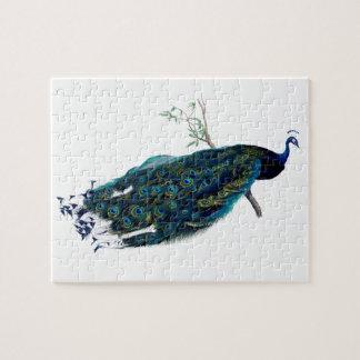 ヴィンテージの孔雀の絵 ジグソーパズル